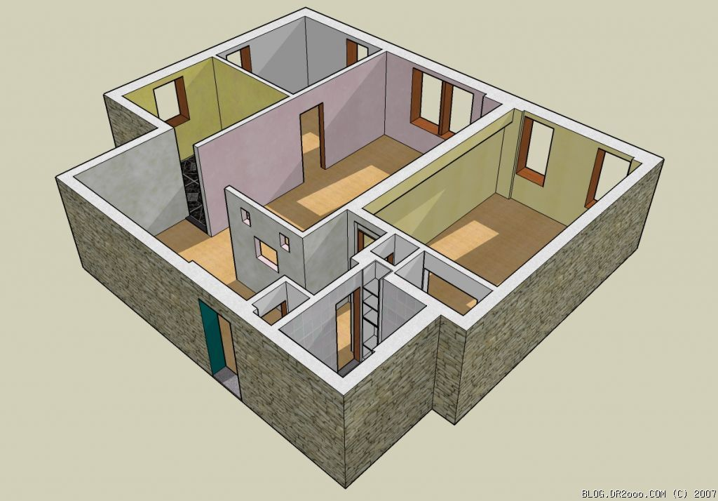 Our apartment in 3d rubinary for Apartment 3d model