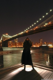 Alena Next To Brooklyn Bridge