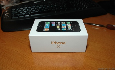 iPhone 3G box before opening.