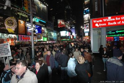 Crowds at Times Square