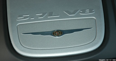 5.7L V8 emblem on the engine.