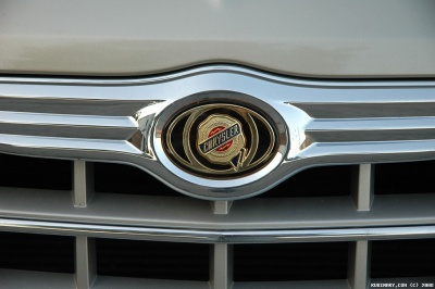 Chrysler emblem on the front grill.