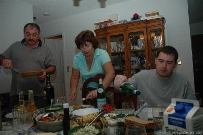 One very hospitable family