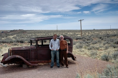 Inside Petrified Forest NP. A part of the famous Route 66.