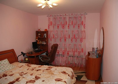 My sister's bedroom. Yes, it really is pink.