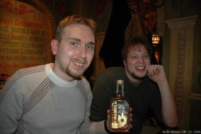 Daniel and Geoff Drinking Gorilka