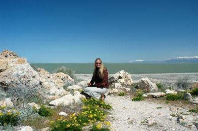 Alena on Antelope Island.