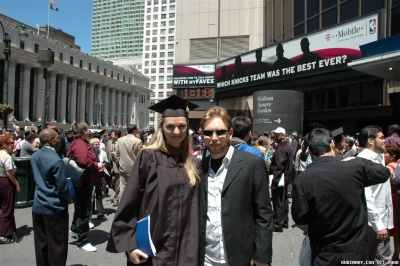 Us after Alenas graduation ceremony at Madison Square Garden.