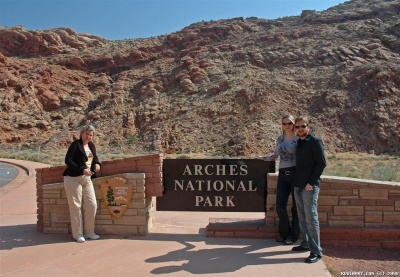 Entrance to Arches National Park.