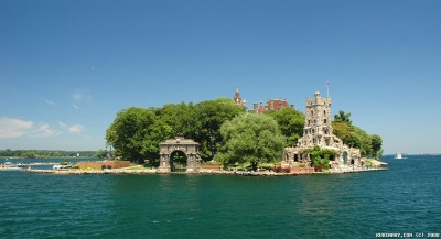 Boldt Castle on Heart Island. Part of 1000 Islands on St. Lawrence River.