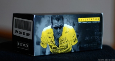 LIVESTRONG Oakley Flak Jacket glasses box.