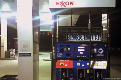 Exxon Gas Pump (Cell Phone Photo)