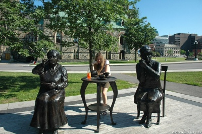 Alёna with the famous two of The Famous Five.