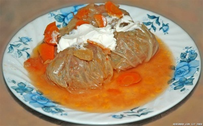 Golubtsy — Russian Cabbage Rolls