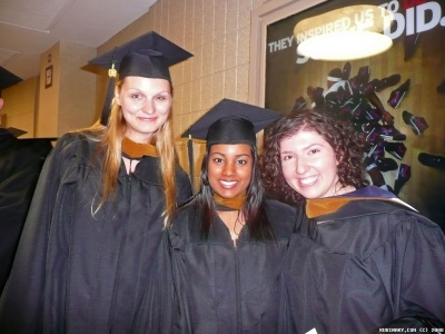 Alena, Felicia and Inna just before the graduation. Photo is a courtesy of Inna R.