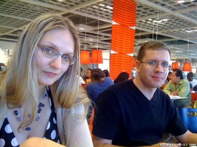 Alёna and Ignat at IKEA.
