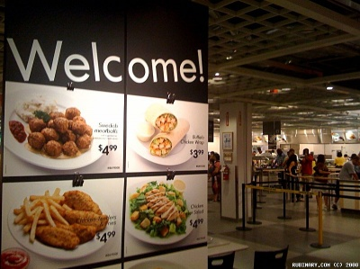 Sweedish Meatballs at IKEA.