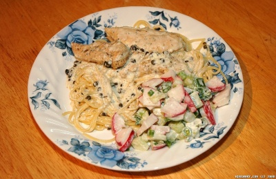 Lemon Chicken in Caper Cream Sauce