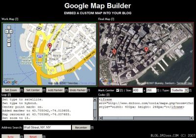 Google Map Builder