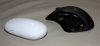 Apple Mighty Mouse and Logitech MX Revolution