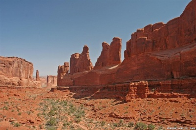 Park Avenue at Arches National Park.