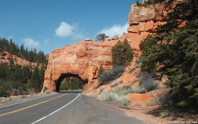 Road through Red Canyon.