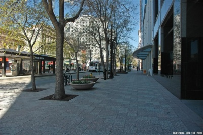 One of the central streets in Salt Lake City.