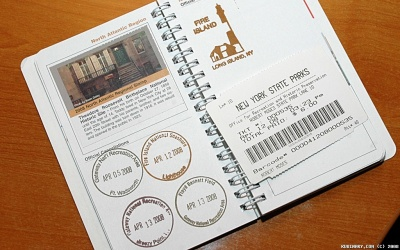 National Parks Passport with Stamps