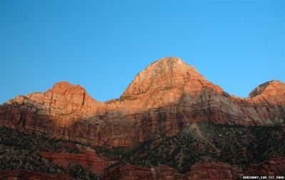 Sunset at Zion National Park.