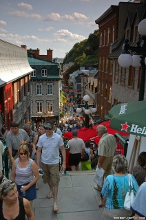 Quebec is crawling with tourists.