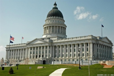 Utah State Capitol building in Salt Lake City.