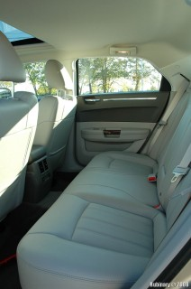 Roomy rear seats with rear air conditioning and seat warmers.