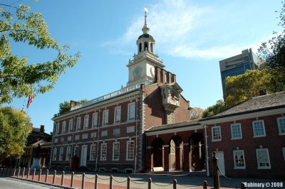 Independence Hall in Philadelphia.