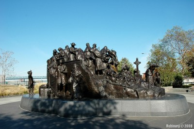The Irish Memorial at Penn's Landing, Philadelphia.