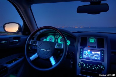 Dashboard close-up. This is an HDR shot. Good details, but the glow color is slightly off.