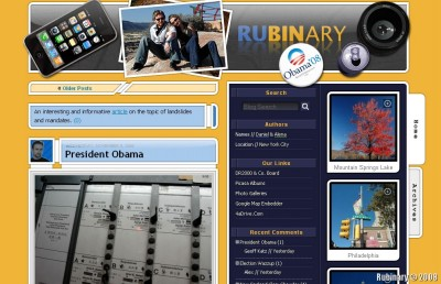 The header that our blog sported during the election season.