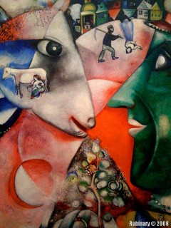 """I and the Village."" Marc Chagall."