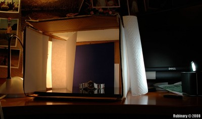 Lightbox setup for the above shot.