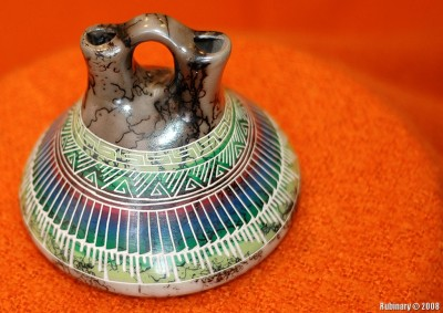 Indian wedding vase hand made by Navajo Indians.