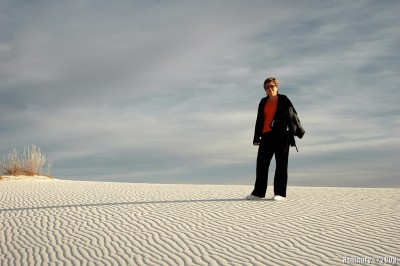 Mama in White Sand Dunes.