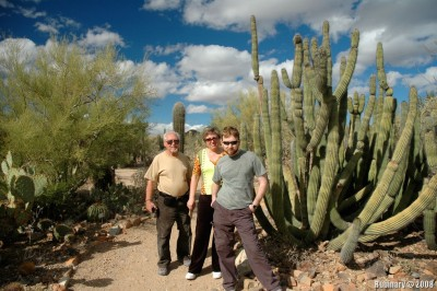 Papa, mama and I at Desert Museum on outskirts of Tucson.