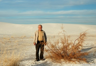 Papa near one of the few plants he liked in White Sands.
