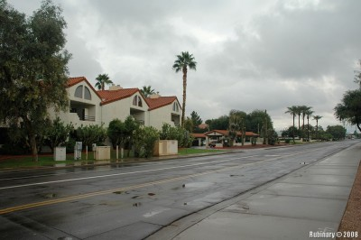 Rare rainy day in Scottsdale.