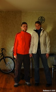 Us in our cycling gear.