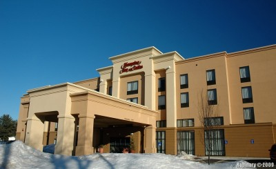 Hampton Inn. Our hotel for our trip to New Hampshire.
