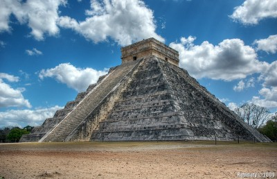 The pyramid at Chichen Itza. Temple of Kukulkan.
