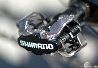 Shimano SPD clipless pedal.