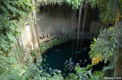 Ik Kil Cenote by Chichen Itza.