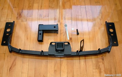 Mopar OEM hidden hitch for Chrysler 300C.