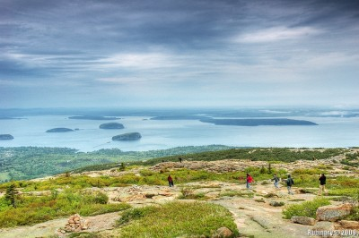On the trail on Cadillac Mountain.